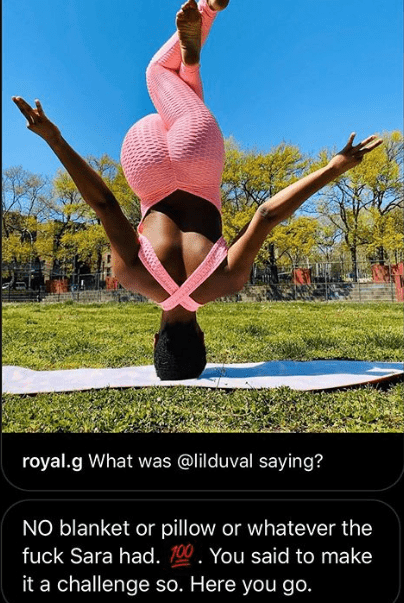 Photo of Women show off how strong their necks are by engaging in hands free headstand challenge