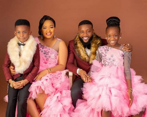 Photo of Nigerian singer, Kcee reconciles with wife, shares adorable family photos
