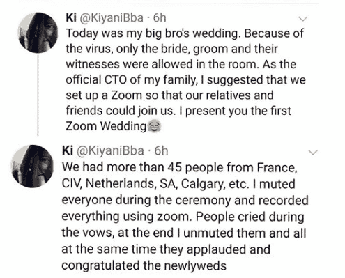 COVID-19 Lockdown: Couple hold online wedding ceremony, COVID-19 Lockdown: Couple hold online wedding ceremony, Latest Nigeria News, Daily Devotionals & Celebrity Gossips - Chidispalace