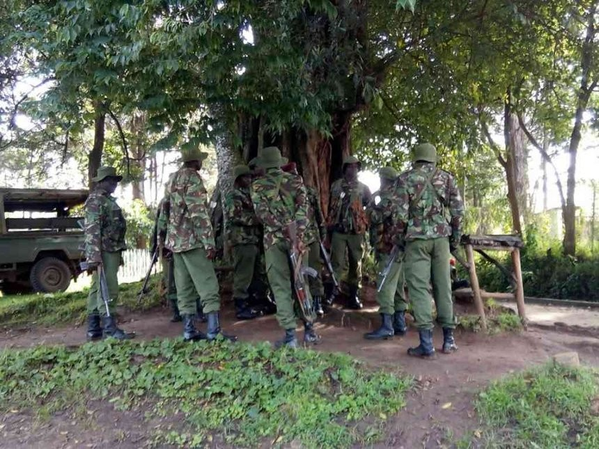 Soldiers and police officer exchange fire after mistaking each other for terrorists in Kenya
