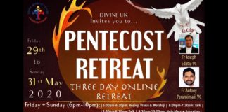 Online Pentecost Retreat Holy Mass and Eucharistic Adoration Day 1
