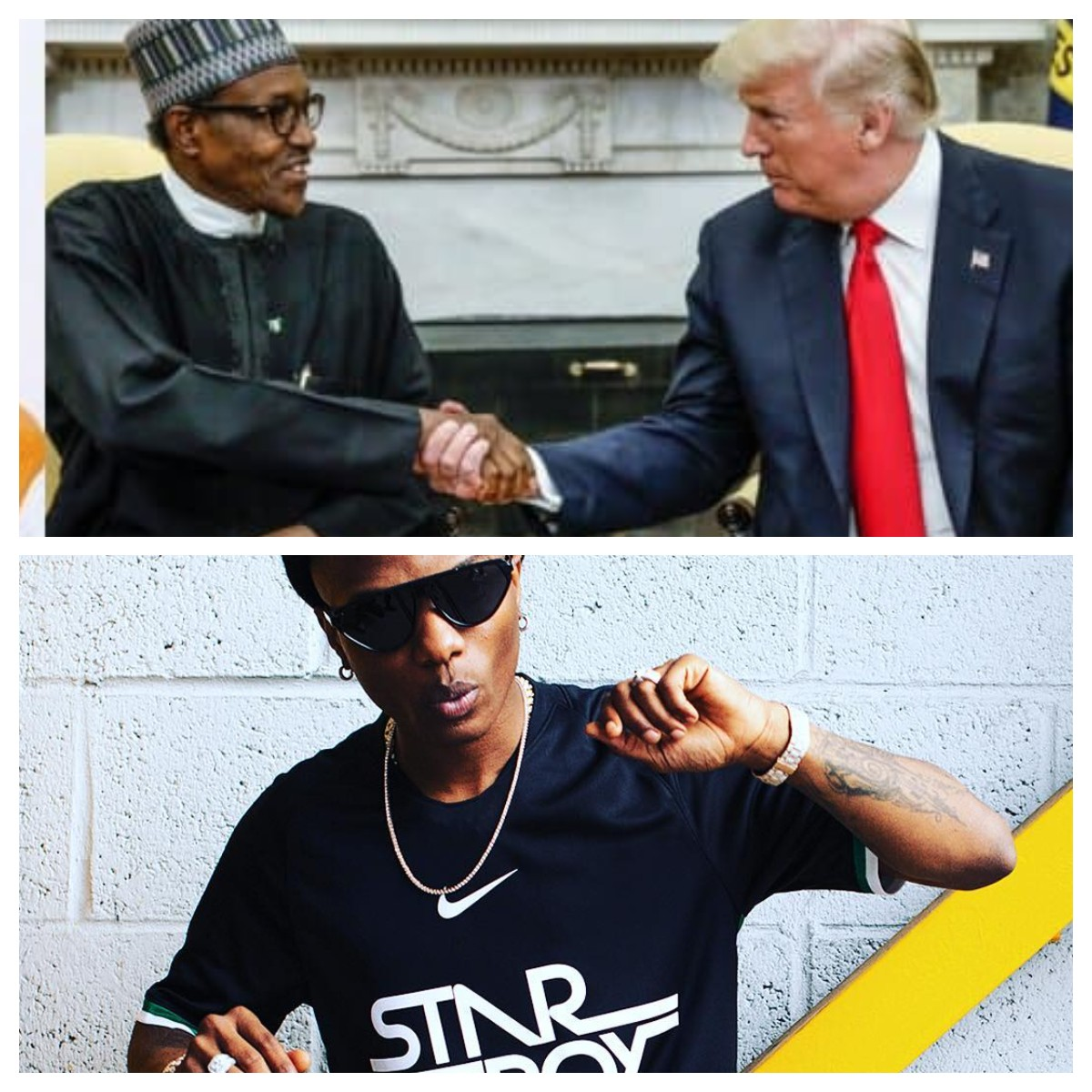 Photo of Buhari and Trump are clueless! – Wizkid fires