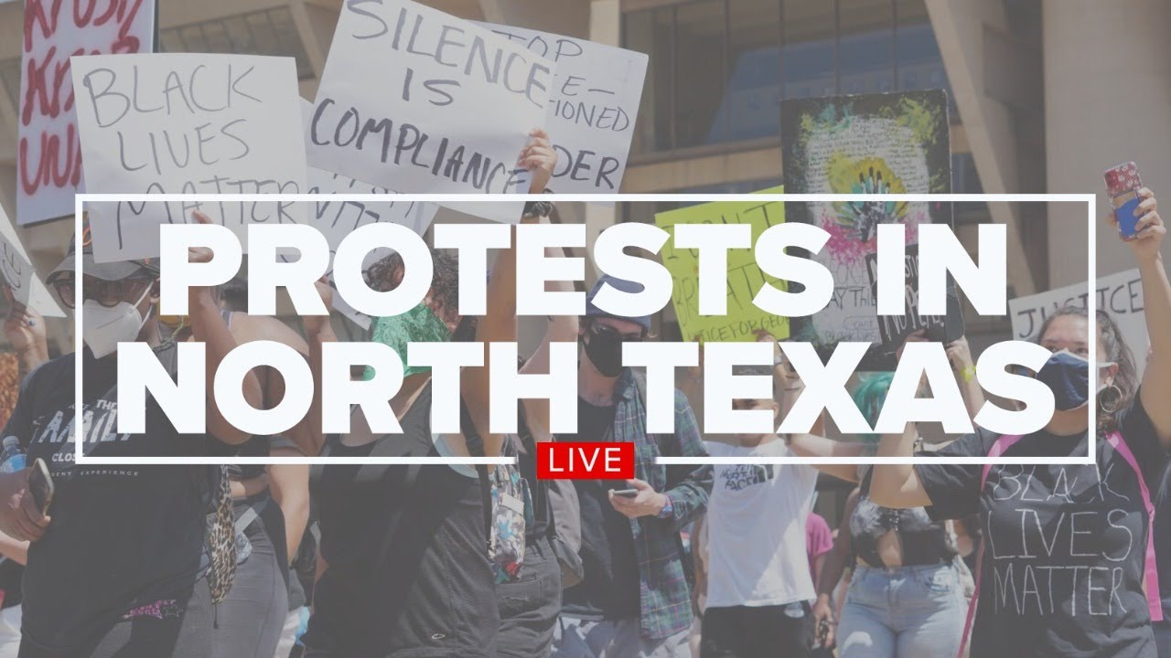 Photo of WATCH LIVE: Police brutality protests continue in North Texas