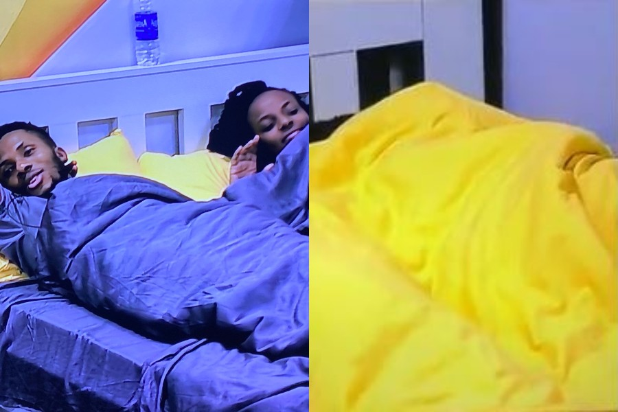 Photo of BBNaija: Brighto and Wathoni spotted having fun under the duvet for the second time