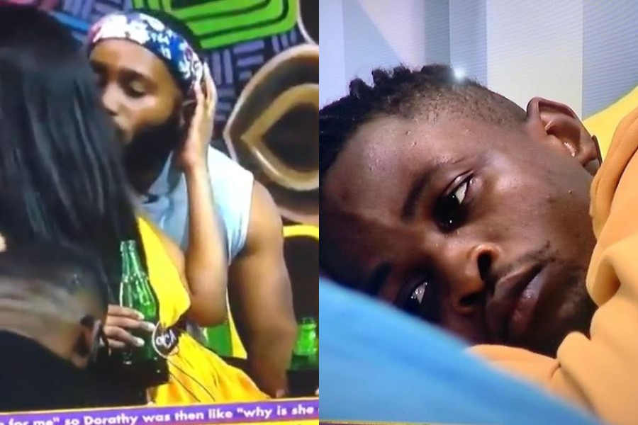 BBNaija 2020: Watch Erica humiliates Laycon by kissing Kiddwaya before other housemates