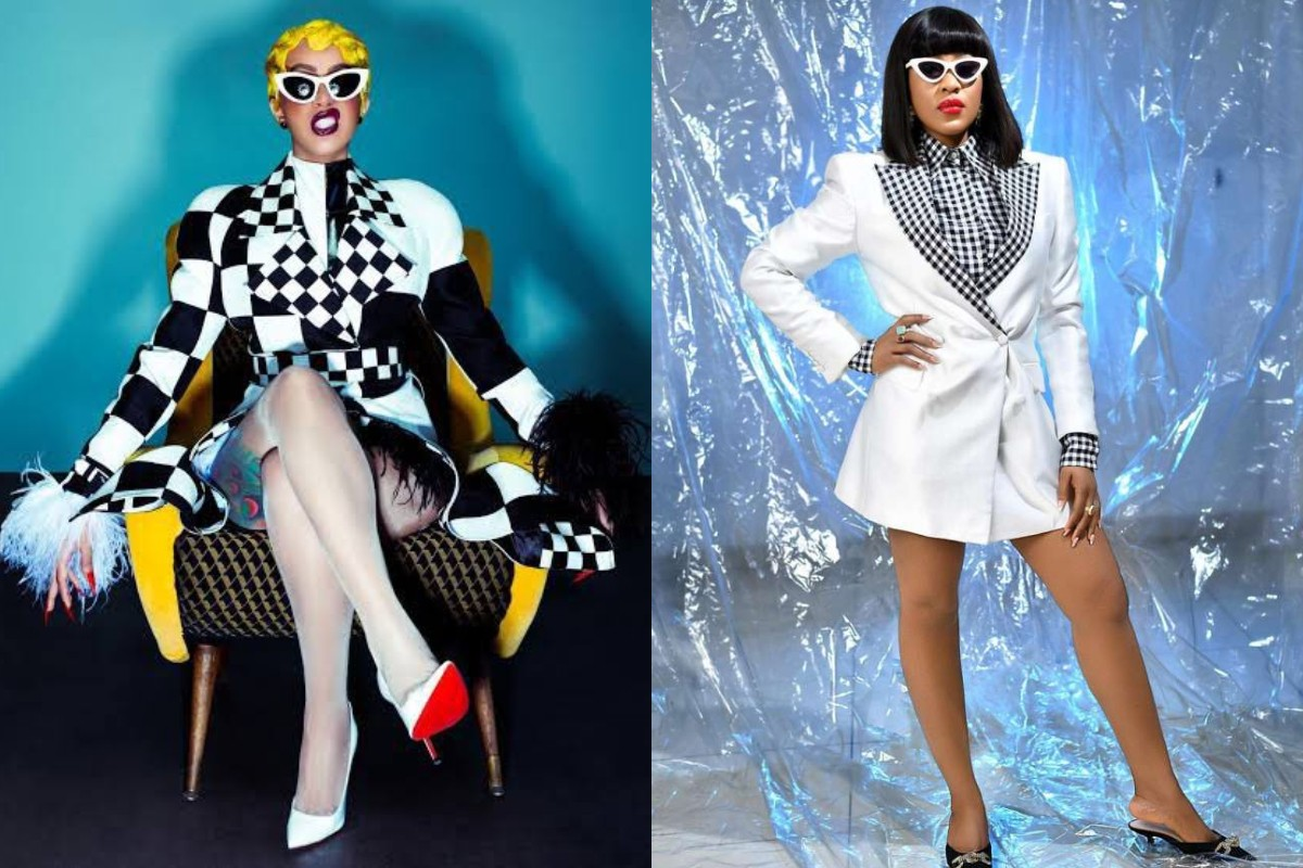 Moment Cardi B saved BBNaija Star, Erica from the hands of Twitter troll (Photo)